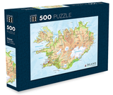 Icelandic sweaters and products - Map of Iceland - Jigsaw Puzzle (500pcs) Puzzle - Shopicelandic.com