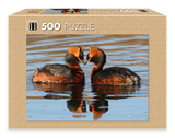 Icelandic sweaters and products - Horned Grebe - Jigsaw Puzzle (500pcs) Puzzle - Shopicelandic.com