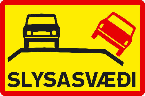 Road Sign - Accident Risk Area - Road Signs - Shop Icelandic Products