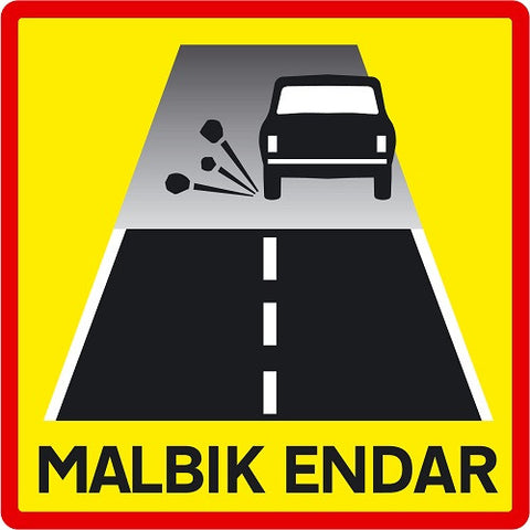 Road Sign - End of Tarmac - Road Signs - Shop Icelandic Products