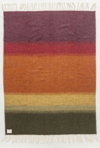 Shades Landscape Wool Blanket - Earth (1051) - Wool Blanket - Shop Icelandic Products