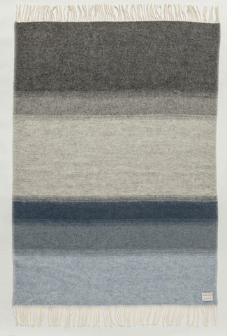 Icelandic sweaters and products - Shades Landscape Wool Blanket - Grey/Blue (1052) Wool Blanket - Shopicelandic.com