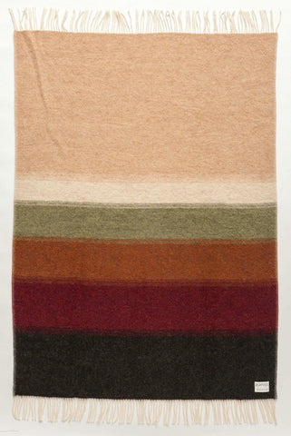 Shades Perspective Wool Blanket - Earth (1061) - Wool Blanket - Shop Icelandic Products - 1