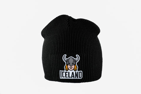 Icelandic sweaters and products - Knitted Beanie - Viking Woman Hat - Shopicelandic.com