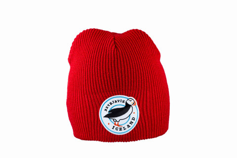 Icelandic sweaters and products - Knitted Beanie - Puffin Hat - Shopicelandic.com