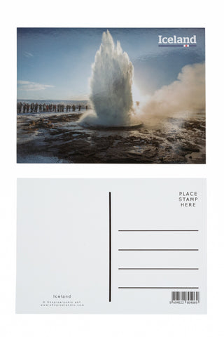 Icelandic sweaters and products - Postcard - Strokkur Geyser Postcards - Shopicelandic.com