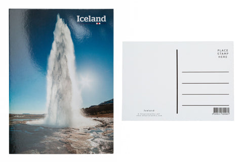 Icelandic sweaters and products - Postcard - Geysir erupting Postcards - Shopicelandic.com
