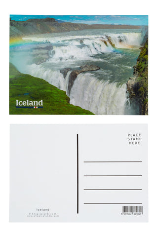 Icelandic sweaters and products - Postcard - Gullfoss Iceland Postcards - Shopicelandic.com