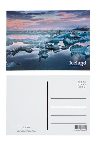 Icelandic sweaters and products - Postcard - Jokulsarlon Iceland Postcards - Shopicelandic.com