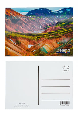 Icelandic sweaters and products - Postcard - Landmannalaugar Postcards - Shopicelandic.com