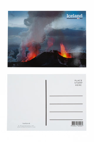 Icelandic sweaters and products - Postcard - Eruption of Eyjafjallajökull 2010 Postcards - Shopicelandic.com