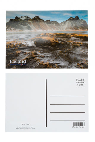 Icelandic sweaters and products - Postcard - Vestrahorn mountain Postcards - Shopicelandic.com