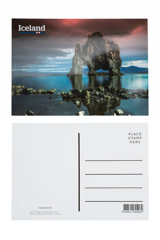 Icelandic sweaters and products - Postcard - Hvitserkur Postcards - Shopicelandic.com