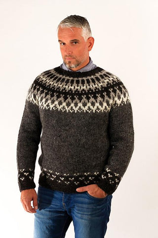 Icelandic sweaters and products - Skipper Wool Pullover Grey Wool Sweaters - Shopicelandic.com