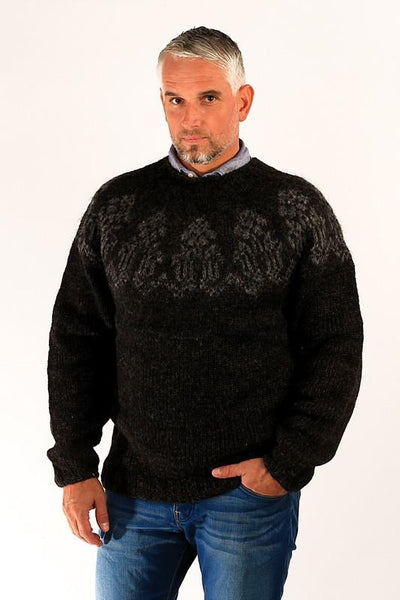 Thorlakur Wool Sweater Black - Wool Sweaters - Shop Icelandic Products