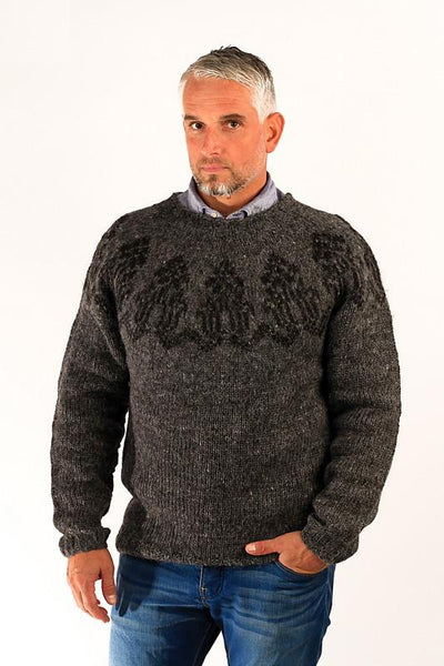 Thorlakur Wool Sweater Grey - Wool Sweaters - Shop Icelandic Products