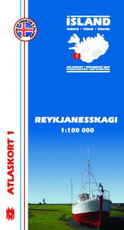 Topographic Map - Reykjanesskagi - Maps - Shop Icelandic Products