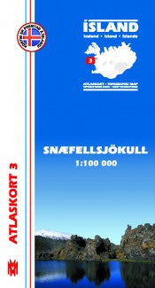 Topographic Map - Snæfellsjökull - Maps - Shop Icelandic Products