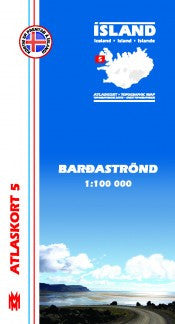 Topographic Map - Barðaströnd - Maps - Shop Icelandic Products