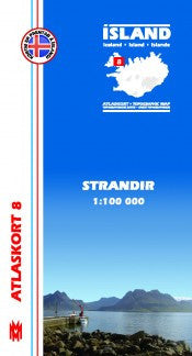 Topographic Map - Strandir - Maps - Shop Icelandic Products
