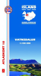 Topographic Map - Vatnsdalur - Maps - Shop Icelandic Products