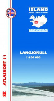 Topographic Map - Langjökull - Maps - Shop Icelandic Products