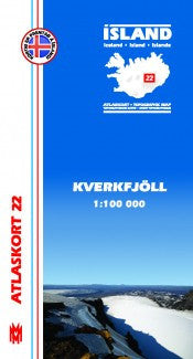Topographic Map - Kverkfjöll - Maps - Shop Icelandic Products