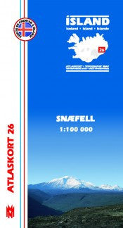 Topographic Map - Snæfell - Maps - Shop Icelandic Products