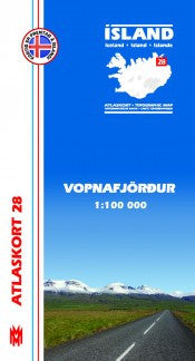 Topographic Map - Vopnafjörður - Maps - Shop Icelandic Products