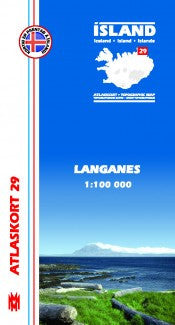 Topographic Map - Langanes - Maps - Shop Icelandic Products
