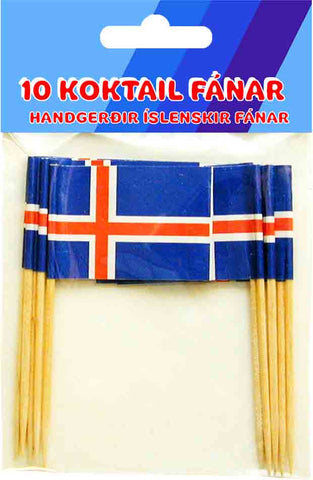 Icelandic sweaters and products - 10 Icelandic Cocktail Flags Fánavörur - Shopicelandic.com