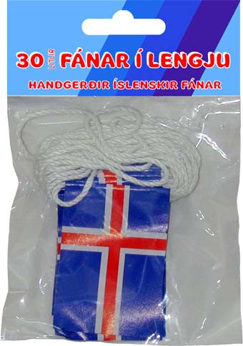 30 Icelandic flags on a string
