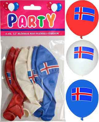 Icelandic sweaters and products - Icelandic balloons Fánavörur - Shopicelandic.com