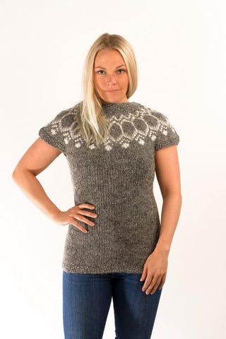 Icelandic sweaters and products - Wool Vest Grey Wool Sweaters - Shopicelandic.com
