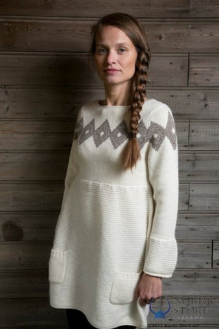 Icelandic sweaters and products - Freyja Dress White Icelandic Sweaters - Shopicelandic.com