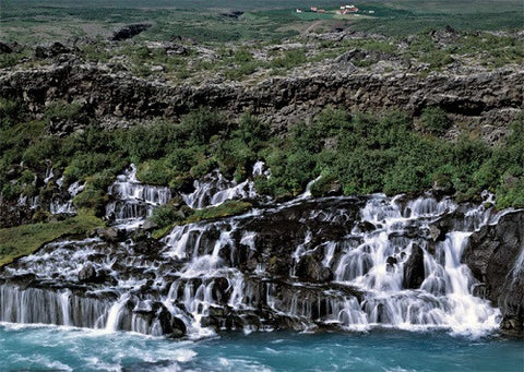 Hraunfossar Waterfalls - Jigsaw Puzzle (1000pcs) - Puzzle - Shop Icelandic Products