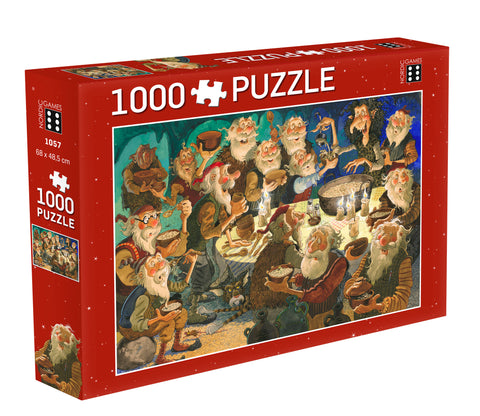 Icelandic sweaters and products - Yule Lads Christmas Porridge - Jigsaw Puzzle (1000pcs) Puzzle - Shopicelandic.com