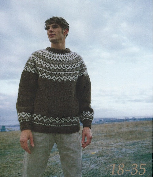 Icelandic Wool Sweater Pattern 18-35 - Icelandic Wool Sweater Pattern - Shop Icelandic Products