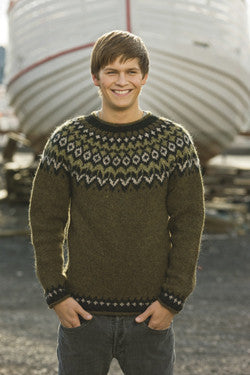 Icelandic Fishermans Wool Pullover - Marsh Heather (Knitting Kit) - Wool Knitting Kit - Shop Icelandic Products