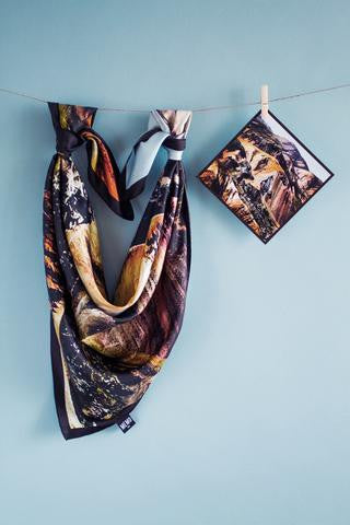 Icelandic sweaters and products - Landmannalaugar Silk Scarf Silk scarves - Shopicelandic.com