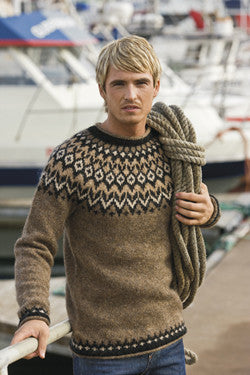 Fisherman's pullover - brown heather - Wool Sweaters - Shop Icelandic Products - 1