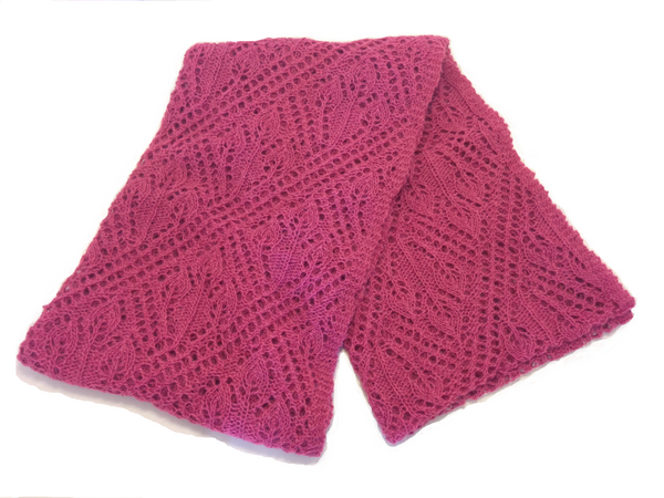Ladies Wool Shawl Pink - Wool Accessories - Shop Icelandic Products