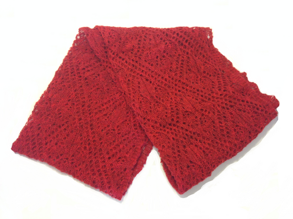Ladies Wool Shawl Red - Wool Accessories - Shop Icelandic Products