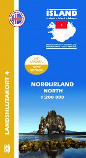 Regional Map 4  - North 1:200.000 - Maps - Shop Icelandic Products