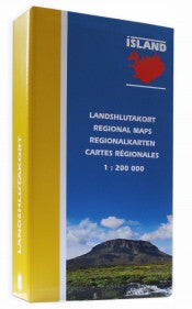 Regional Maps - Set of 8 maps -  1:200.000 - Maps - Shop Icelandic Products