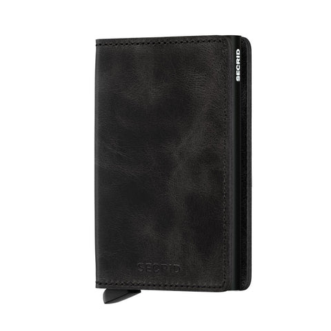 Icelandic sweaters and products - Slimwallet: Vintage Black Wallet - Shopicelandic.com