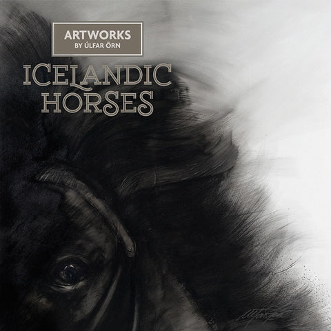 Icelandic Horses (Myrkvi) - Artwork by Úlfar Örn - Fine Print - Shop Icelandic Products - 1