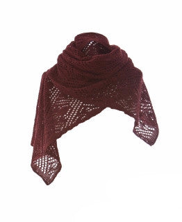Ladies Wool Scarves Wine Red - Wool Accessories - Shop Icelandic Products