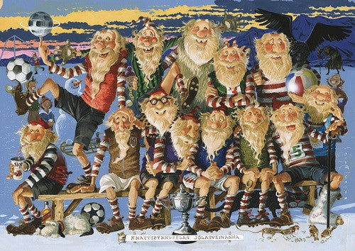 Yule Lads Football - Jigsaw Puzzle (1000pcs) - Puzzle - Shop Icelandic Products
