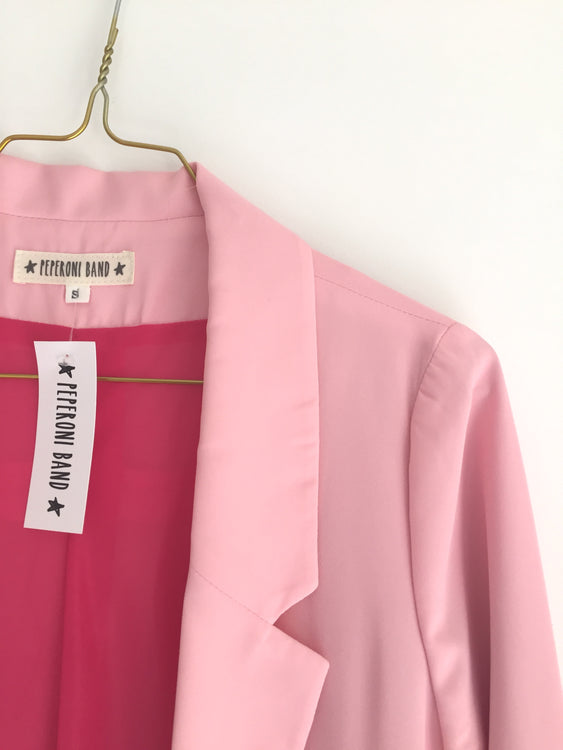 Blazer Pink Paillete Pocket